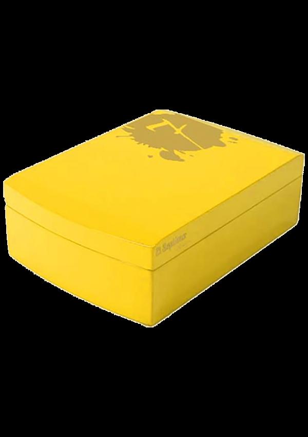 Cave à cigare en acrylique jaune