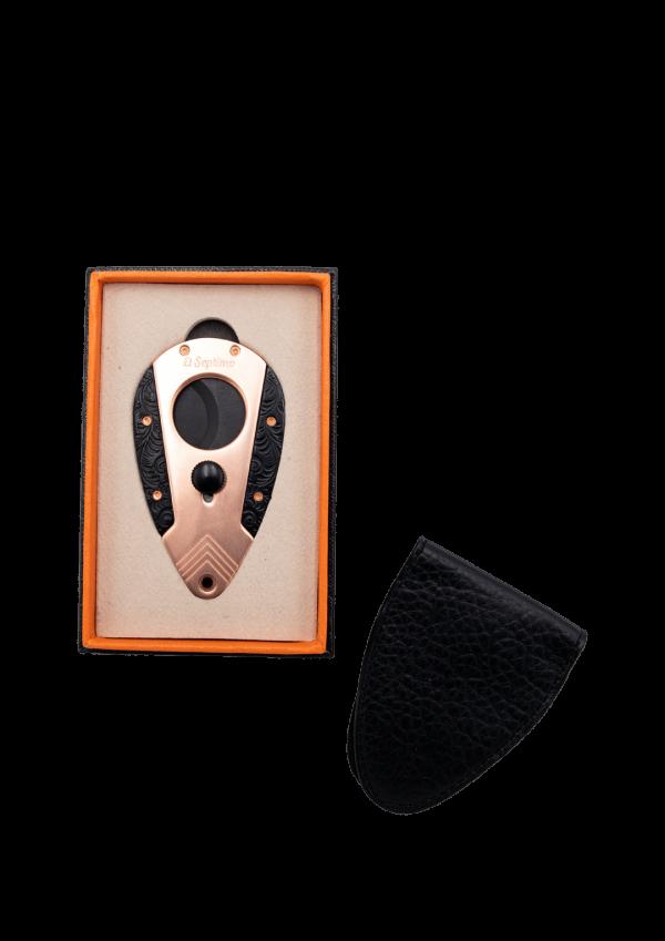 Coupe-guillotine en or rose et noir