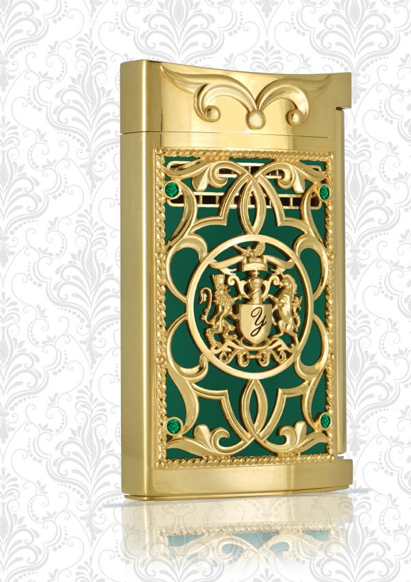 Briquet Emerald Gold Edition Limitée 18K