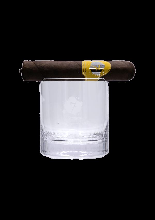 Coupe en verre à whisky cigare El Septimo